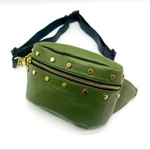 🌸 Green w/ Gold Chain Fashion Fanny Pack